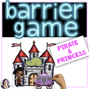 Barrier Games for Language Speech Therapy Pirates & Princesses Set