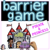 Barrier Games for Language Pirates and Princesses Set