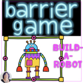 Barrier Games for Speech Therapy for Directions and Descri