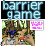 Barrier Games for Speech Therapy Set 2 for expressive language development