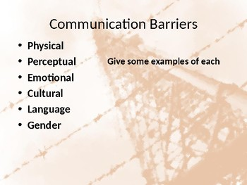 Barriers & Noise in Communication