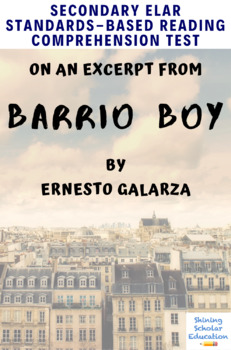 Barrio Boy Excerpt Multiple Choice Reading Analysis Test