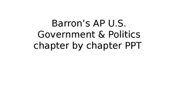 Barron's AP Government & Politics Review Book Powerpoint (Chp. 1)