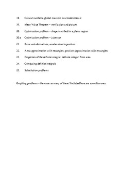 Bart's Calc I Quizzes