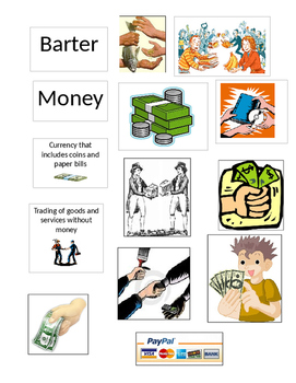 Bartering/Money Sort