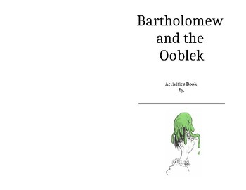 Bartholomew and The Ooblek Foldable Activities Book