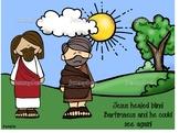 Bartimaues craft- Jesus heals a blind man Bible story craft