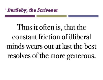bartleby quotes