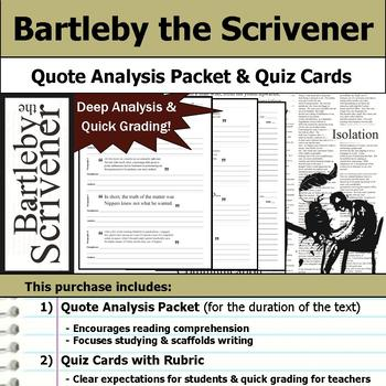 Bartleby the Scrivener - Quote Analysis & Reading Quizzes