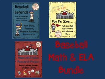 Basball Math and ELA Bundle