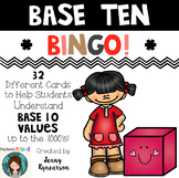 Base 10 BINGO! Practice Place Value up to the 1000's! 32 Different Cards!