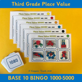 Base 10 Bingo 1000-5000 – 3rd Grade Place Value