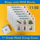 Base 10 Bingo 11-50  – 1st Grade Place Value