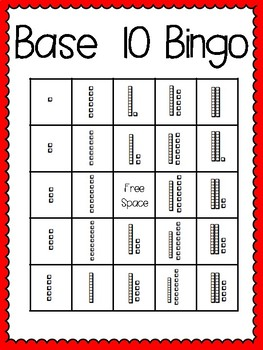 Base 10 Bingo (30 completely different cards & calling cards included!)