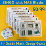 Base 10 Bingo 50-99  – 1st Grade Place Value