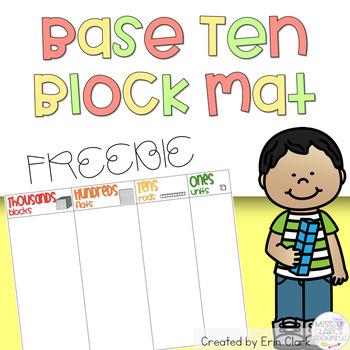 Base 10 Block Mat (Thousands, Hundreds, Tens and Ones) {FREE}
