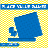 Base 10 Block Place Value Concentration & Dice Games
