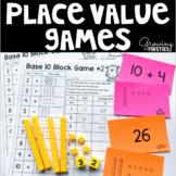 Base 10 Block Place Value Concentration & Dice Games