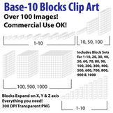 Base 10 Block (white) - Clip Art - Commercial Use OK! {Z i