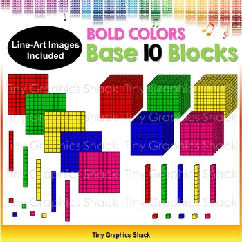 Base 10 Blocks Bold Colors