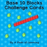 Base 10 Blocks Challenge Cards to 20: Math Center for Pres