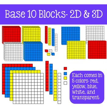 Base 10 Blocks Clip Art