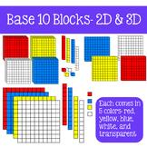 Base 10 Blocks Clip Art