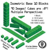 Base 10 Blocks (green) - Clip Art - Commercial Use OK! {Z