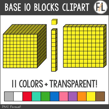 Base 10 Blocks Clipart