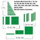 Base 10 Blocks (Green) - Clip Art - Commercial OK! {Z is for Zebra} - oblique