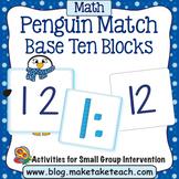 Base 10 Blocks - Penguin Match