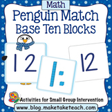 Base 10 Blocks - Penguin Match
