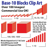 Base 10 Blocks (Red) - Clip Art - Commercial OK! {Z is for