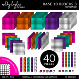 Base 10 Blocks Clipart Set 3 {A Hughes Design}