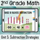 Base 10 Blocks Subtraction Boom Cards [Second Grade Math]   Distance Learning