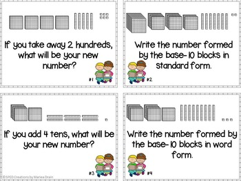 Base-10 Blocks: Task Cards and PowerPoint Show