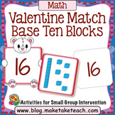 Base 10 Blocks - Valentine Bear Match