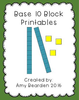 Base 10 Block Printables