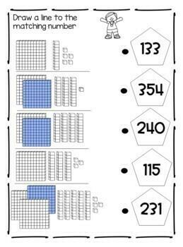 Base 10 Blocks Worksheets - Place Value, Expanded Form