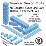 Base 10 Blocks (blue) - Clip Art - Commercial Use OK! {Z i