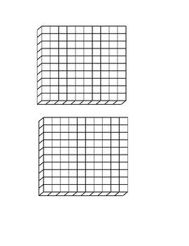 Base 10 Blocks for Teacher & Student Use