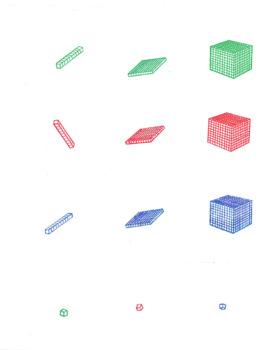 Base 10 Blocks in 2D