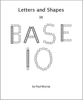 Base 10 Blocks making Letters and Shapes