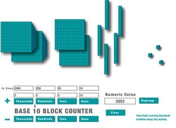 Base 10 Blocks program(Adobe Flash)