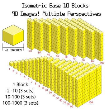 Base 10 Blocks (yellow) - Clip Art - Commercial Use OK! {Z is for Zebra}