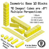 Base 10 Blocks (yellow) - Clip Art - Commercial Use OK! {Z