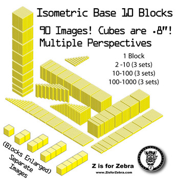 Base 10 Blocks (yellow) - Clip Art - Commercial Use OK! {Z