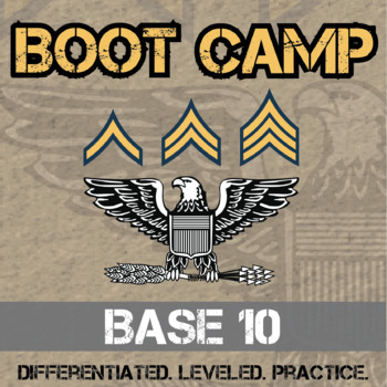 Base-10 Boot Camp -- Differentiated Addition Practice Assignments