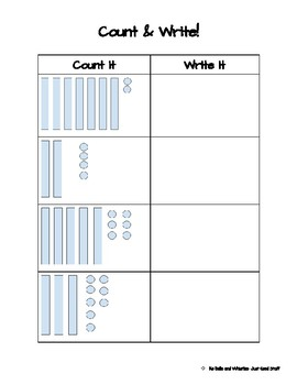Base 10- Count and Write
