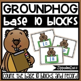 Base 10 Counting to 20 Task Cards Groundhog Theme